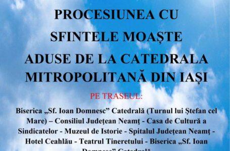 Procesiune religioasă cu ocazia Zilelor municipiului Piatra-Neamț