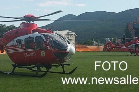 Două elicoptere SMURD pentru 2 frați opăriți din Mastacăn