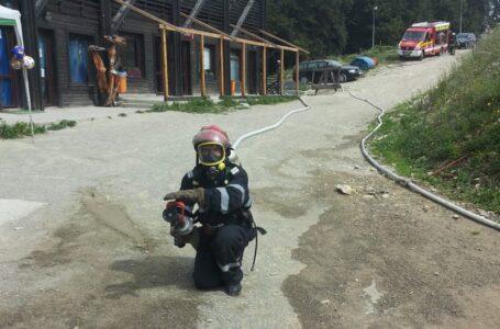 Simulare de incendiu pe muntele Cozla
