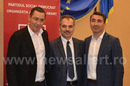 Victor Ponta: Am venit la Neamț în special pentru Ionel Arsene, Liviu Harbuz și Gheorghe Oprea