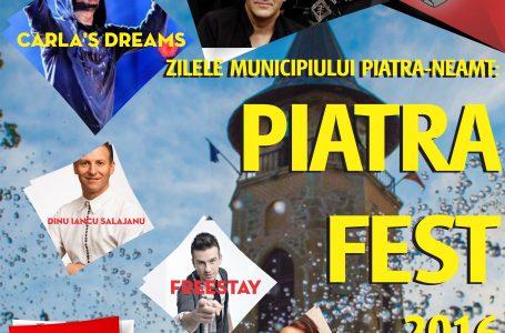 Programul oficial și complet al Zilelor Orașului Piatra Neamț – 2016