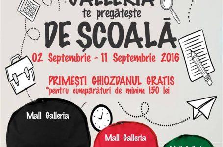 Ghiozdane gratis de la Galleria Mall Piatra Neamț!