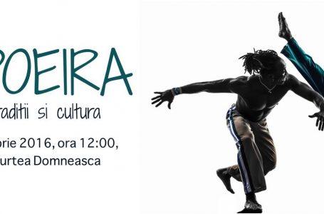 Demonstrație de capoeira pe platoul de la Curtea Domnească