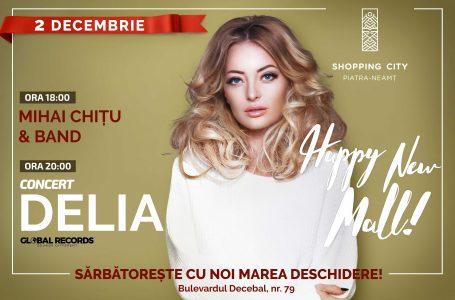 Inaugurarea Shopping City Piatra-Neamț: zeci de oferte speciale, concert Delia și multe surprize! (programul complet)