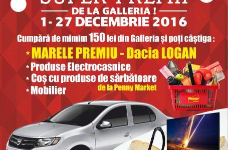Tombolă la Galleria Mall Piatra Neamț cu premiu o DACIA LOGAN FACE LIFT 2017!