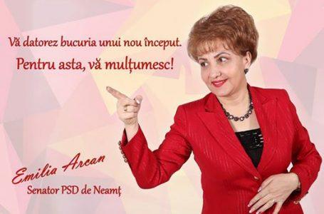Emilia Arcan, prima femeie senator din Neamț! Uite ce a declarat președinta organizației de femei a PSD Neamț!