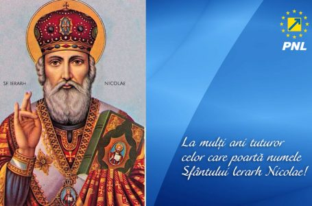 Felicitare din partea filialei PNL Neamț cu ocazia Sfântului Nicolae