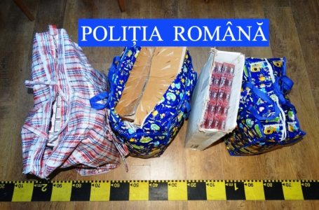 Polițiștii din Neamț au prins un șofer cu 1.500 pachete de țigări de contrabandă