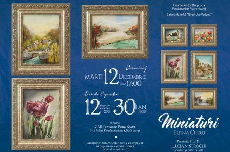 """Expoziție """"Miniaturi"""" la Galeria de Artă CARP Piatra-Neamț"""