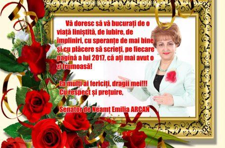 Mesajul senatorului PSD, Emilia ARCAN, cu prilejul Crăciunului