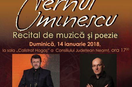 """""""Eternul Eminescu"""", primul proiect cultural din 2018 al Centrului pentru Cultură și Arte """"Carmen Saeculare"""""""
