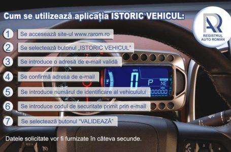 Aplicație gratuită a RAR pentru a afla istoricul oricărui autovehicul înregistrat în baza de date
