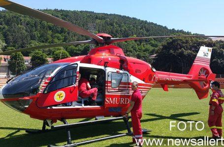 Motociclist accidentat grav la Dulcești! Victima a fost preluată de un elicopter SMURD și transportată la Iași!