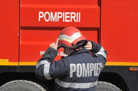 O rulotă a luat foc în mers la Bălțătești