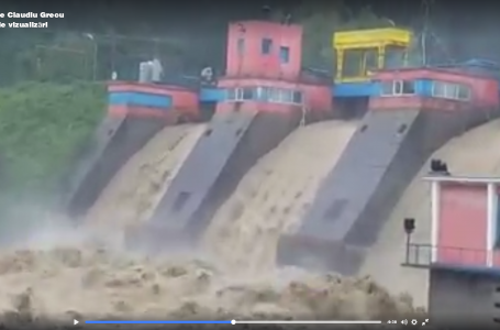 Încep deversări masive la barajul de la Reconstrucția – Piatra Neamț