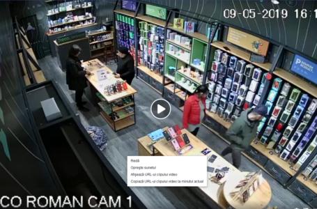 Hoți surprinși de camerele de filmat într-un magazin din mall din Neamț