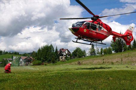 Video spectaculos cu intervenția salvamontiștilor în Ceahlău, la motociclistul francez accidentat