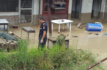 Curți inundate la Piatra-Neamț și drum afectat la Alexandru cel Bun (luni, 24 iunie 2019)