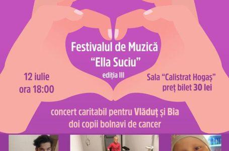 Invitație la concert caritabil în Piatra-Neamț, pentru doi copii diagnosticați cu cancer
