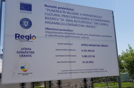 Noroc dumnezeiesc pentru o firmă din Galați: proiect de 6,2 milioane de lei la Mănăstirea Văratic!