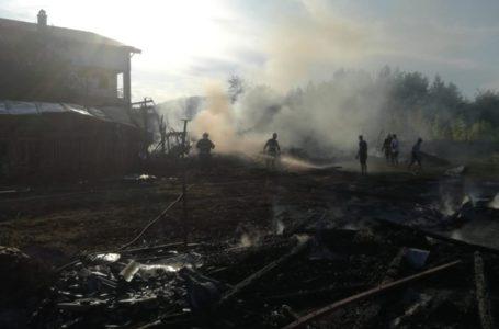 Incendiu de proporții la Borlești