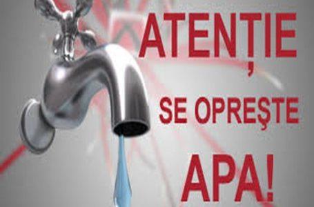 Toţi locuitorii municipiului Roman rămân MIERCURI, 12 mai, fără apă la robinete