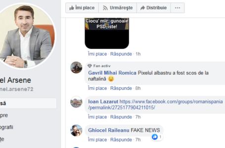 """Arsene – """"desființat"""" pe facebook pe tema fake-news-ului cu casca președintelui"""