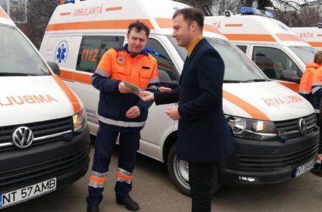 Serviciul Judeţean de Ambulanţă Neamţ a primit 8 autospeciale noi