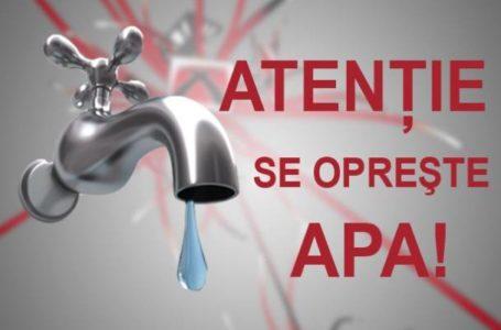 Alertă! Jumătate din Piatra-Neamț, orașul Roznov și 3 comune rămân azi fără apă! (joi – 4 martie)