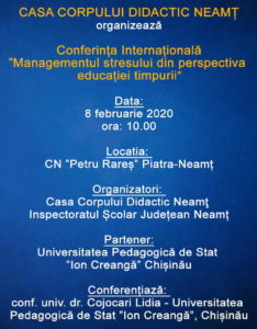 Conferinta internationala managementul stresului