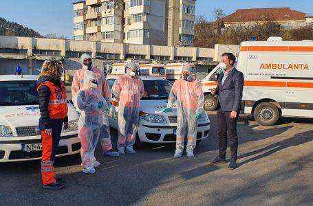 Prefectul George Lazăr, verificări la Serviciul Județean de Ambulanță și DSP Neamț