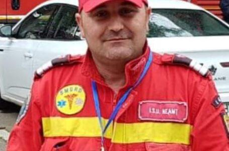 Moment de reculegere la ISU Neamț pentru paramedicul mort subit la 42 ani (video)
