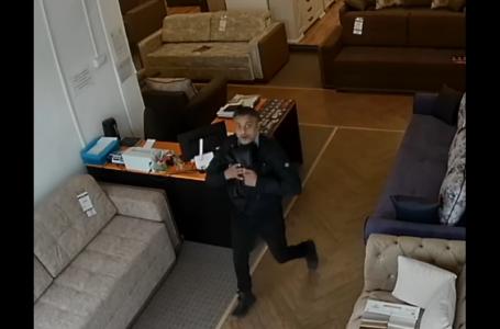 Un hoț din Piatra-Neamț s-a uitat fix în camera de monitorizare! (foto-galerie)
