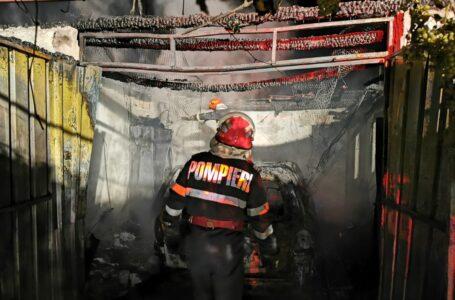 Un garaj și o mașină s-au făcut scrum într-un incendiu la Vădurele (Alexandru cel Bun)