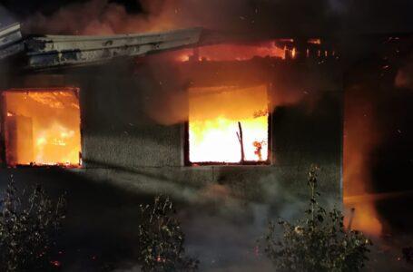 Incendiu la Girov în noaptea de Revelion