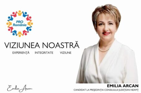 """Emilia Arcan – candidat PRO România la președinția CJ Neamț: """"Experiență, Integritate, Viziune"""""""