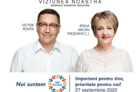 Emilia Arcan (PRO România) și-a depus candidatura pentru funcția de președinte al Consiliului Județean Neamț