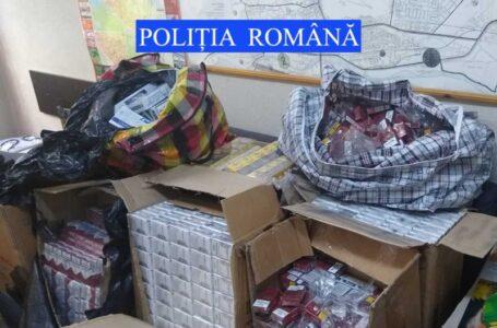 Descinderi la un traficant de țigări! Aproape 500 pachete au fost confiscate!