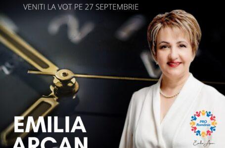 Emilia Arcan (PRO România): Nu avem timp de pierdut…