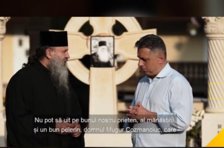 """Starețul Mănăstirii Petru Vodă, arhimandritul Hariton Negrea, mesaj despre Mugur Cozmanciuc! """"Îl recomand pentru sufletul meu"""" (video)"""
