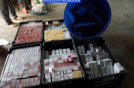 Peste 3.000 pachete de țigări de contrabandă, descoperite de polițiștii din Neamț la un traficant