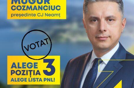 """Mugur Cozmanciuc (candidat PNL la președinția CJ Neamț): """"Avem respect pentru toți primarii, indiferent de culoarea politică!"""""""