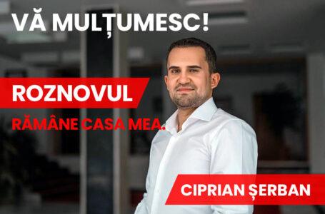 Deputatul Ciprian Șerban – mesaj pentru roznoveni după votul de la alegerile locale