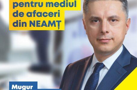 """Președintele PNL Neamț, deputatul Mugur Cozmanciuc: """"Guvernul oferă bani europeni pentru mediul de afaceri din județul Neamț"""""""