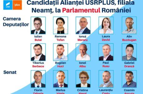 Iată candidații USRPLUS Neamț la alegerile parlamentare din decembrie 2020