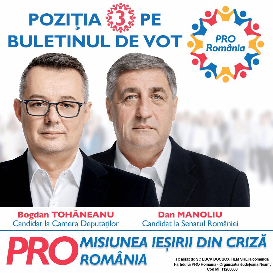 Banner parlamentare 2020_Pro Romania