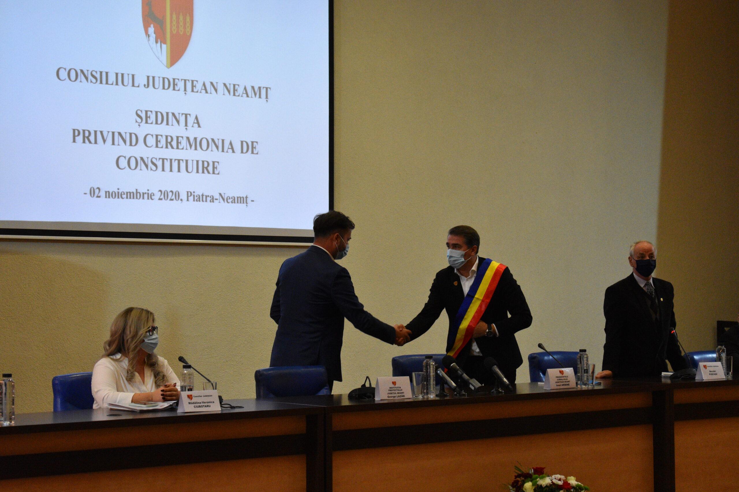 """Declarația și poza zilei vin de la Consiliul Județean Neamț: """"Îl felicit pe Ionel Arsene pentru…"""""""