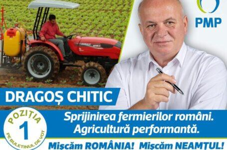 Dragoș Chitic (PMP): Fermierii români trebuie sprijiniți și încurajați să se dezvolte!
