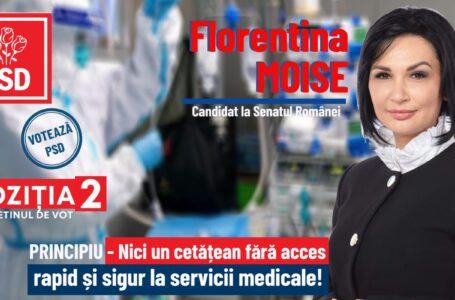 Florentina Moise (PSD Neamț): România are nevoie de un program eficient în domeniul Sănătății!