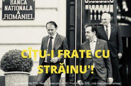 """Deputatul Ciprian Șerban (PSD Neamț): """"Cîțu-i frate cu străinu'"""""""